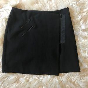 Madewell Black Zip Zipper Wrap Skirt Size 0